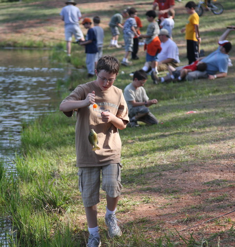 Fishing at Wilderness Ridge.
